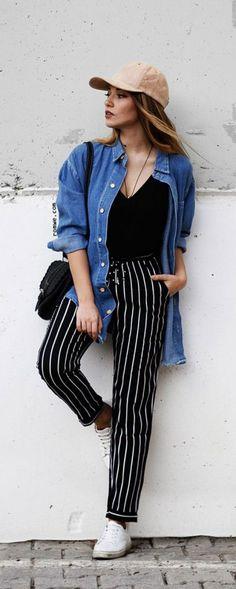 Chemise en jean tendance: 27 façons stylées de porter la chemise en 2017