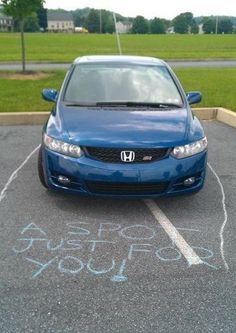 'A spot just for you' - everyone should carry some chalk around just for this one reason #Annoying #Drivers