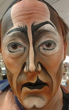Interesting face paint :)
