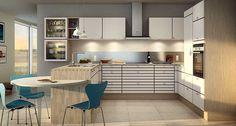 Alt indenfor køkken, bad og garderobe i højeste kvalitet Home Kitchens, Table, Furniture, Home Decor, Kitchens, Product Design, Pictures, Decoration Home, Room Decor