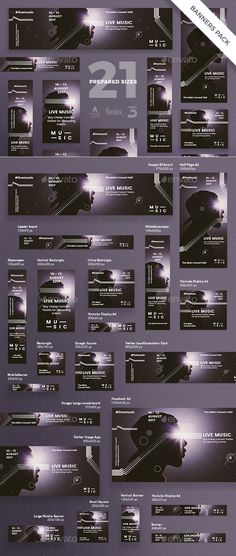 Stand out of the crowd with a perfect banners pack. Big set of banners ¨C 21 various forms and sizes to improve the look of your we Web Banner Design, Web Banners, Banner Instagram, Photomontage, Fashion Banner, Portfolio Design, Portfolio Layout, Folder Design, Event Banner