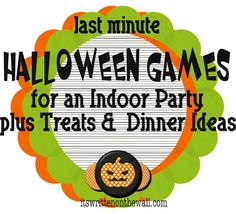 its written on the wall indoor halloween games dinner menus freebies party - Halloween Games For Groups