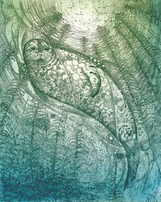Seal Rising by Louise Scott (Etching)