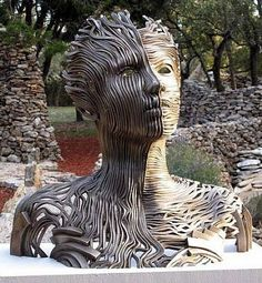 artnet Galleries: Dichotomy by Gil Bruvel from Collection Privee de Peinture et de Sculpture. Love this. #dichotomy #textural #evocative