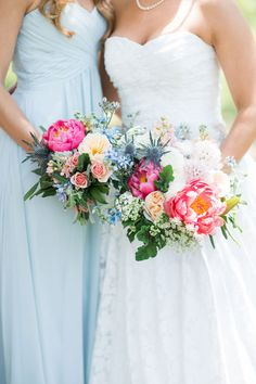 A sweet Florida wedding with a butterfly release and a cheerful spring palette of sky blue and pink | Bri Cibene Photography: http://www.bricibene.com