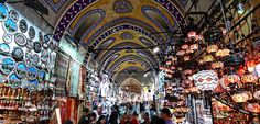 (European Side) To visit Grand Bazaar and discover this largest and oldest covered market in the world filled with many oriental shops offering a wide selection of hand-pointed ceramics, lanterns, patterned carpets, jewelry and much more.
