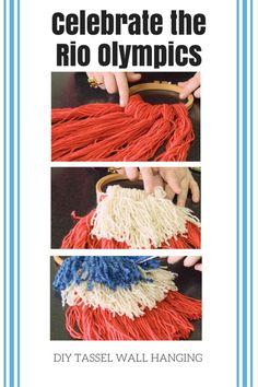 DIY Olympics Tassel Craft