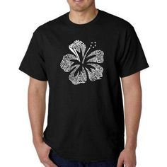 Los Angeles Pop Art Men's T-shirt - Mahalo, Size: Medium, Black
