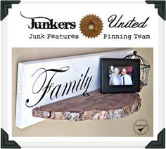 Create shelves from cut down tree slices... Come see how they are made and enter the wine sack giveaway! www.homeroad.net