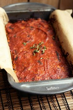 "Gluten-free + Vegan Lentil ""Meat"" Loaf  // Tasty Yummies"