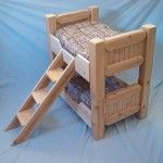 Spacious Small Log Dog Panel Bunk Bed