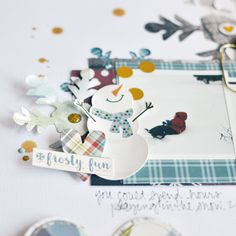 Layout closeup by design team member Amy Coose featuring the Snow Patrol Simple Set