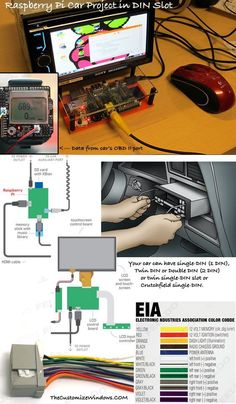 Raspberry Pi Car Project : DIN Slot Starter Guide Here is a Starter Guide For Your Raspberry Pi Car Project in DIN Slot. Many Technical Matters Around Car Need To Be Known For Complex Project. Electronics Projects, Computer Projects, Electrical Projects, Pi Projects, Computer Diy, Computer Engineering, Raspberry Computer, Esp8266 Arduino, Raspberries