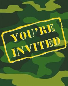 camouflage-party-invitations