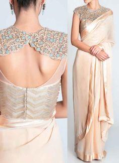 Peach Lace Border Thread Work Tissue Banarasi Silk Designer Party Wear Sarees http://www.angelnx.com/Sarees/Party-Wear-Sarees