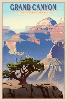 Grand Canyon National Park - Grand Canyon National Park, National Parks, National Park Shirts, Vintage National Park Posters, Adventure Time, Adventure Tattoo, Adventure Couple, Adventure Travel, Vintage Travel Posters
