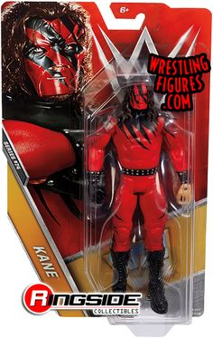 Kane WWE Mattel Basic 74 Brand New Action Figure Toy - Damaged Packaging Figuras Wwe, Kane Wwe, Wwf Superstars, Undertaker Wwe, Spiderman Suits, Wwe Toys, Wwe Action Figures, Wrestling Stars, Jeff Hardy