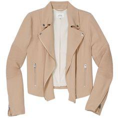 montesson jacket Aritzia ($113) ❤ liked on Polyvore featuring outerwear, jackets, tops, coats, coats & jackets, motorcycle jacket, wilfred, moto jacket, biker jacket and beige jacket
