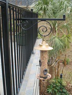 Railing Bird Bath Feeder Bird Feeders And Balcony Ideas