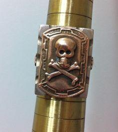 Vintage Biker Ring. Skull