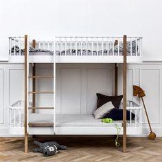 Oliver Furniture Wood Etagenbett 90 x 200 cm, Leiter vorn, Eiche /...