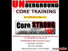 (adsbygoogle = window.adsbygoogle || []).push();     (adsbygoogle = window.adsbygoogle || []).push();  Underground Core Training – Core Training | Core Strength    http://www.undergroundcoretraining.com/Core-Training-Core-Strength.html review  60% Commission On This Product!...