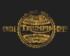 Triumph Logo, Triumph Motorcycles, Vintage Motorcycles, Helmet Paint, Motorcycle Garage, Vintage Advertisements, Vintage Signs, Funny Tshirts, Hand Lettering
