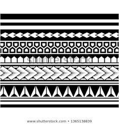 Polynesian tattoo sleeve pattern vector, samoan sketch forearm and foot design, maori stencil bracelet armband tattoo tribal, lace band fabric template seamless ornament Polynesian Tattoo Sleeve, Polynesian Tattoo Meanings, Polynesian Tattoos Women, Polynesian Tattoo Designs, Maori Tattoos, Samoan Tattoo, Sleeve Tattoos, Filipino Tribal Tattoos, Chinese Tattoos