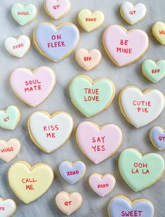 If you're looking for fun and EASY cookies to decorate for Valentine's Day, well, you've found them. Conversation heart cookies...they're some of the simplest cookies to make, and some of the cutest!
