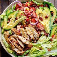 """6,456 Likes, 52 Comments - Meal Plan (@mealplans) on Instagram: """"HONEY MUSTARD CHICKEN BACON + AVOCADO SALAD made by @cafedelites Author: Karina - Cafe Delites…"""""""