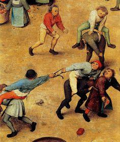 Pieter Bruegel the Elder (Flemish, 1525 – Children's Games 1560 (Detail) Oil on wood, 118 × 161 cm Kunsthistorisches Museum, Vienna. Renaissance Artists, Renaissance Paintings, Pieter Brueghel El Viejo, Medieval Games, Pieter Bruegel The Elder, Baroque Art, Dutch Painters, Hieronymus Bosch, Large Painting