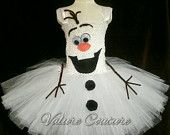 Disney Inspired Frozen Olaf Tutu Dress