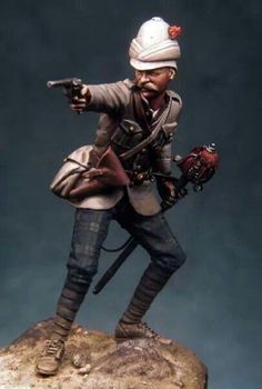 British officer, c. 1881, scale figure by Bill Horan