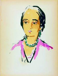 Kees van Dongen, Tête de femme, 1925