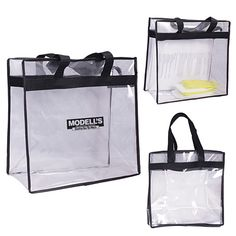 Custom All Access Stadium Tote Bag Item (Min Qty: Decorate your Promotional Clear Tote Bags with your business logo and with no setup fees. New Nfl Stadiums, Clear Tote Bags, Promotional Bags, Custom Tote Bags, Quality Logo Products, Tote Backpack, Printed Tote Bags, Print Logo, Bag Sale