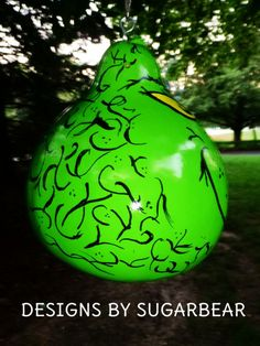 the grinch gourd | Designs by Sugarbear the Grinch Birdhouse Gourd Art photo Grinch016 ...