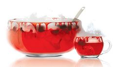 Vampire's Punch- Perfect for your True Blood, Twilight etc. parties-  18 oz. SKYY Infusions cherry  8 oz. lime juice  6 oz. cranberry juice  2.5 oz. grenadine  7UP  Fresh cherries, pits removed