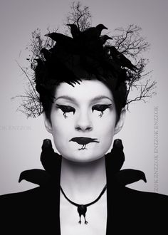 raven make-up performer style