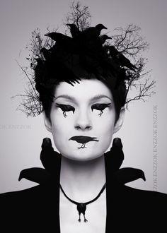 ravens #poe themed #halloween #makeup #ideas