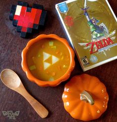 """Food Adventures (in fiction!): Pumpkin Soup from """"The Legend of Zelda: Skyward Sword"""". I'm not much a fan of pumpkin, but I kind of feel like I have to try this now."""