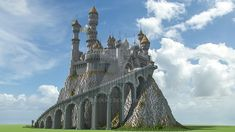 Castle with Dragons by jstoeckm2 on DeviantArt