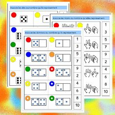 Des jeux mathématiques en autonomie pour mes GS Math Gs, French Kids, File Folder Games, Math Numbers, Teaching French, Math Classroom, Learn French, Math Activities, School Bags