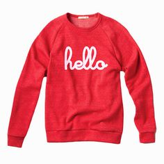 Hello Champ Pullover Unisex Red
