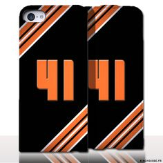 Protection iPhone 5 Cuir Numero - Personnalisez votre étui en cuir. #numero #41 #etui #iPhone5