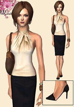 gotta love the pencil skirt style :)