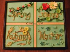 Quilling by Ada: Anotimpurile Quilling Letters, Quilling Techniques, Typography, Lettering, Letters And Numbers, Holiday Decor, Words, Artist, Pattern