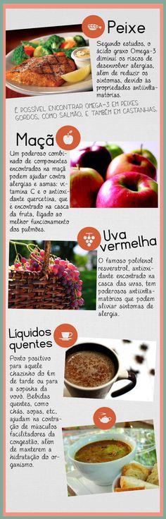 Alimentos que previnem alergias.