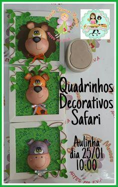 Añito carita Pencil Toppers, Notebook Covers, Pasta Flexible, Foam Crafts, Ideas Para, Safari, Baby Shower, Dolls, Christmas Ornaments