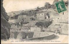 Provence, maison dans la roche, Tourrettes sur loup, alpes maritimes