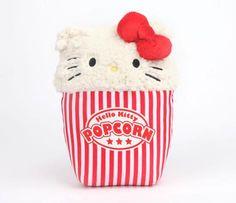 "Hello Kitty Reversible 8"" Plush: Popcorn #hk"